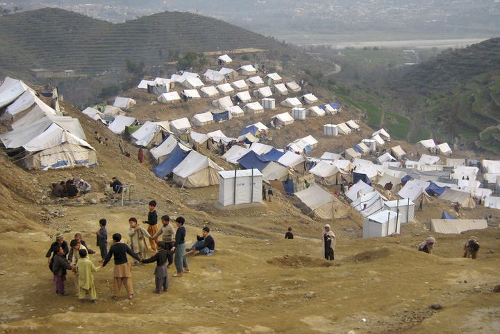 Refugee camps in Pakistan include displaced Afghans who've fled Taliban violence and US military action.