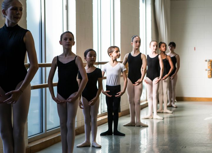 Lovette puts the young dancers, almost all girls, through their paces.