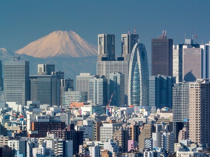 A look at the skyline in Tokyo's Shinjuku district, which is located in the central part of the city and near the Tokyo Bay.