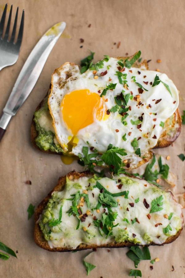 "<strong>Get the <a href=""https://naturallyella.com/broccoli-melt/"" target=""_blank"">Broccoli Melt with Fried Egg recipe</a>&nb"