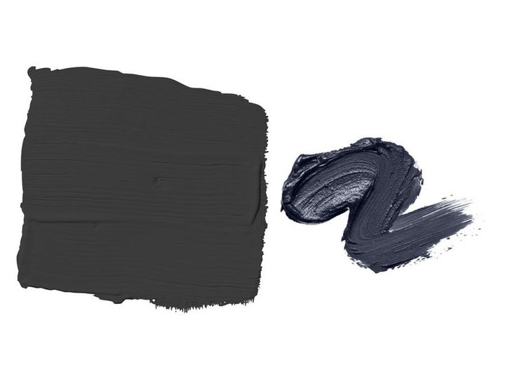 <p>Glidden's Deep Onyx, left, and PPG's Black Flame, right.</p>