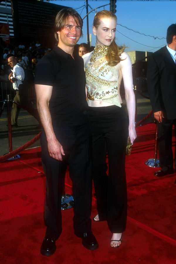 With Tom Cruise at the premiere of 'Mission Impossible 2.'