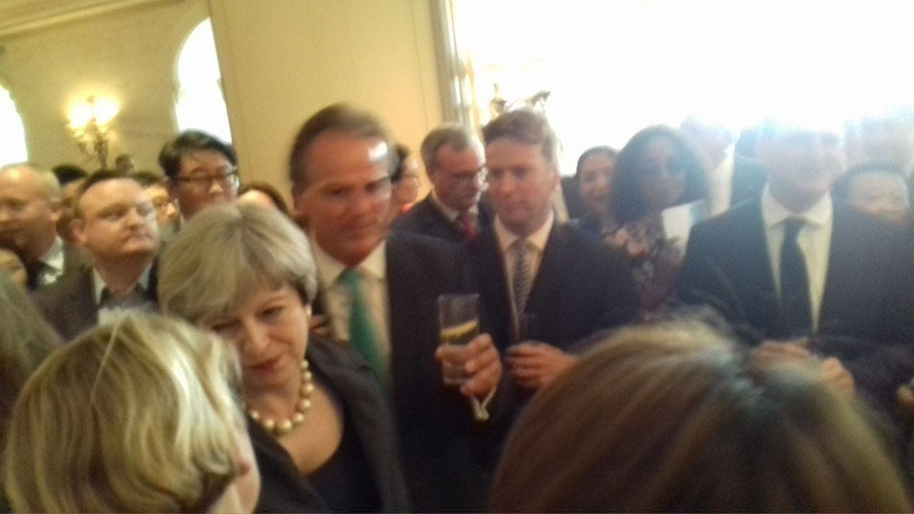 Theresa May at Conservative Party fundraiser at the