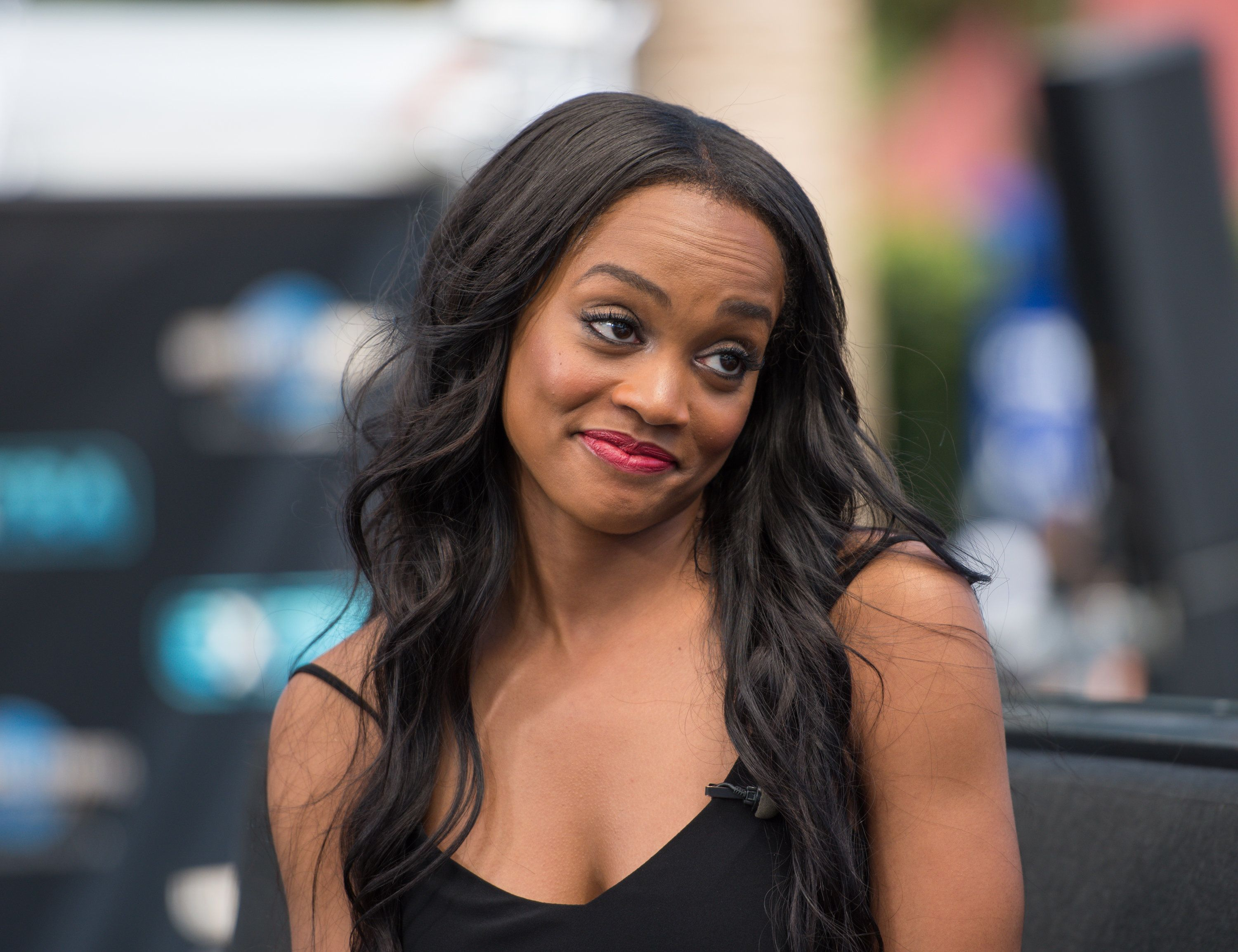 UNIVERSAL CITY, CA - MAY 23:  Rachel Lindsay visits 'Extra' at Universal Studios Hollywood on May 23, 2017 in Universal City, California.  (Photo by Noel Vasquez/Getty Images)
