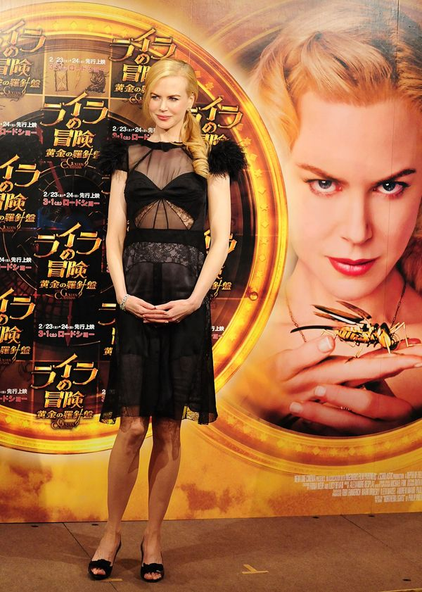 """At a press conference for""""The Golden Compass."""""""
