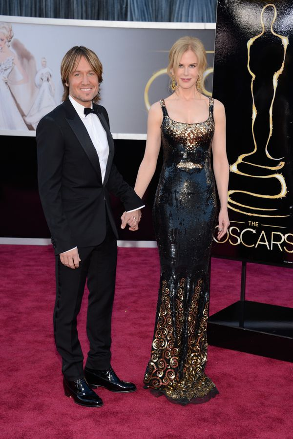 With Keith Urban at the Oscars.