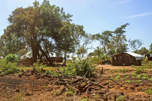 A refugee home in Bidi