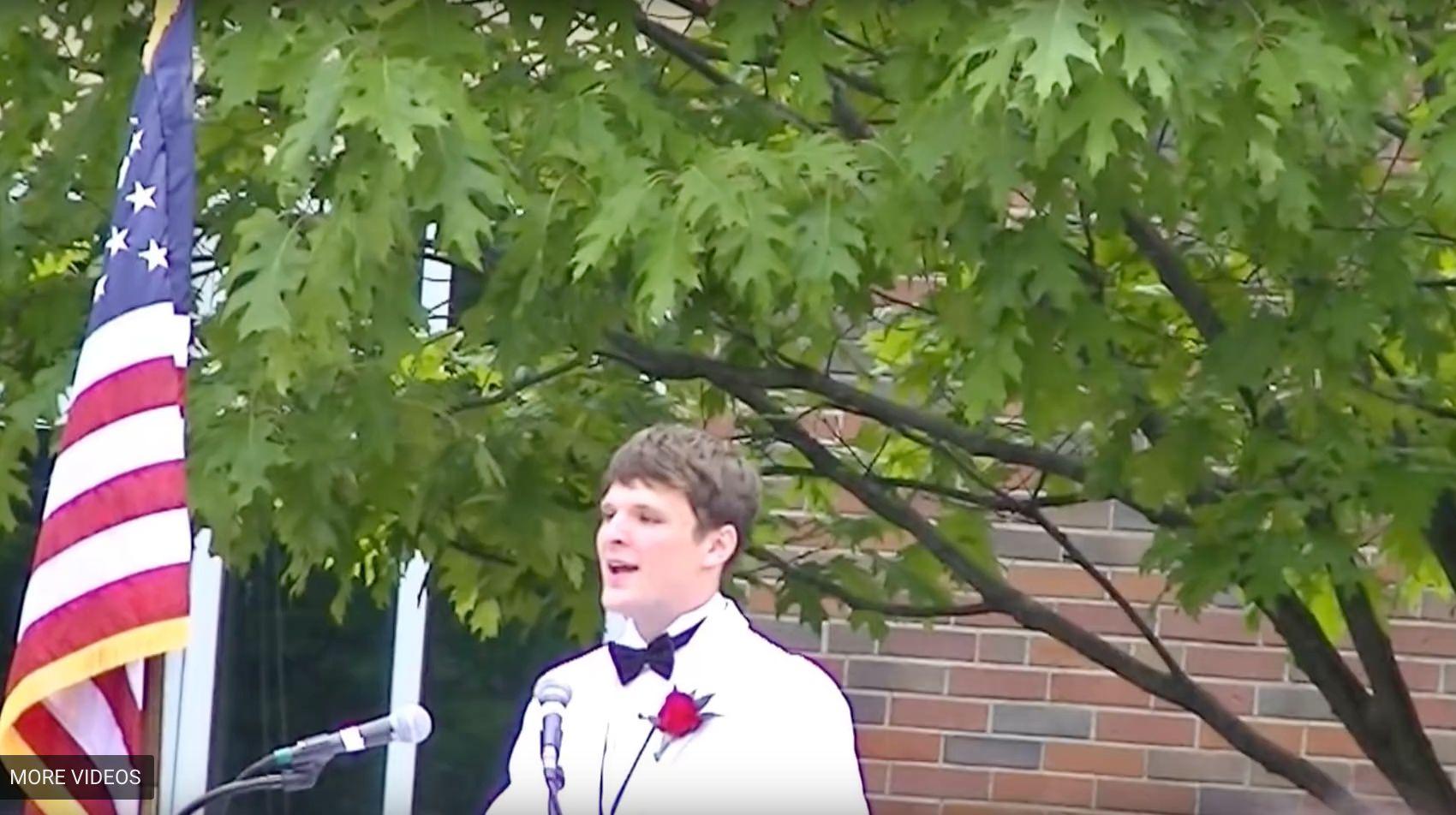 Otto Warmbier delivered his 2013 high school graduation speech