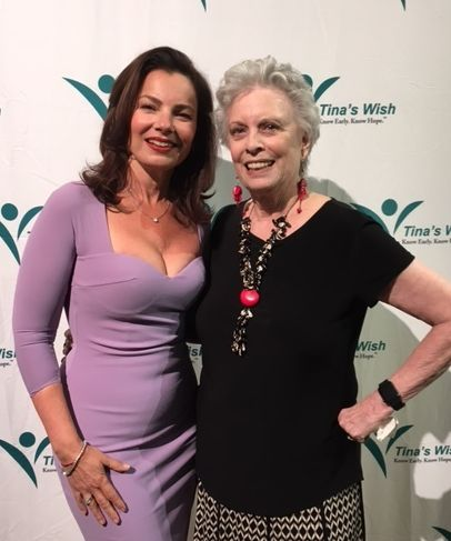 Fran Drescher, looking young and glamorous, and me.