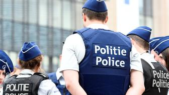 Belgian police officers patrol the area around the headquarters of different European institutions in Brussels, Belgium May 24, 2017. REUTERS/Eric Vidal