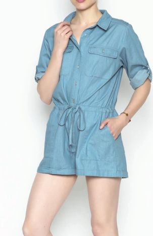 "<a rel=""nofollow"" href=""https://www.shoptiques.com/products/hyfve-chambray-romper-4"" target=""_blank"">Shop this romper here!</"