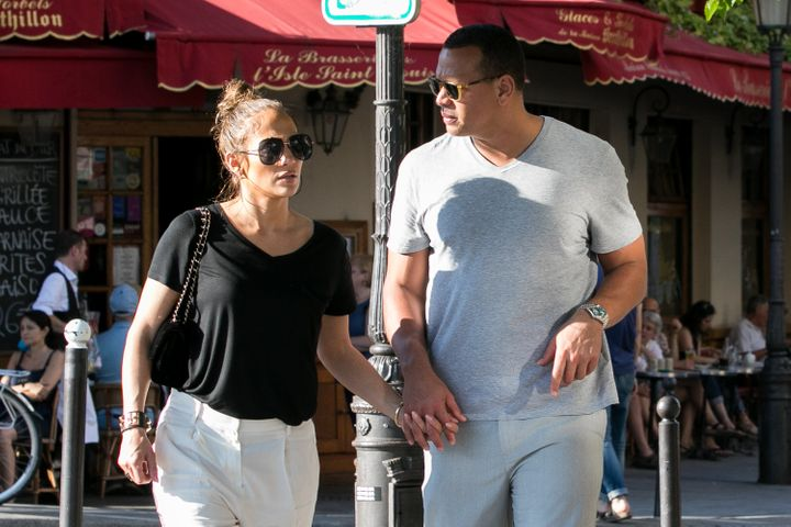 Jennifer Lopez and Alex Rodriguez on their recent trip to Paris.