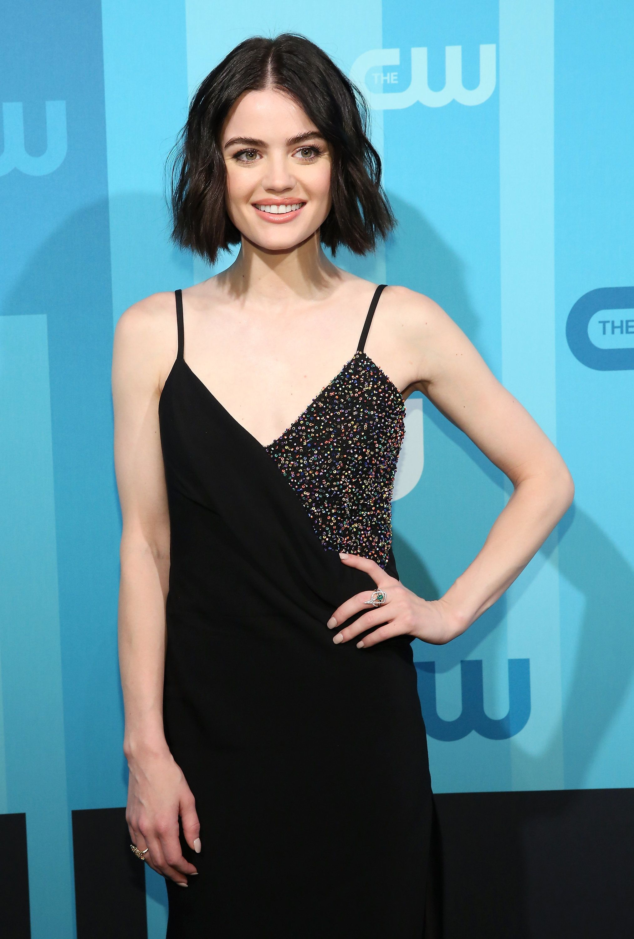 NEW YORK, NY - MAY 18:  Actress Lucy Hale attends the 2017 CW Upfront on May 18, 2017 in New York City.  (Photo by Monica Schipper/WireImage)