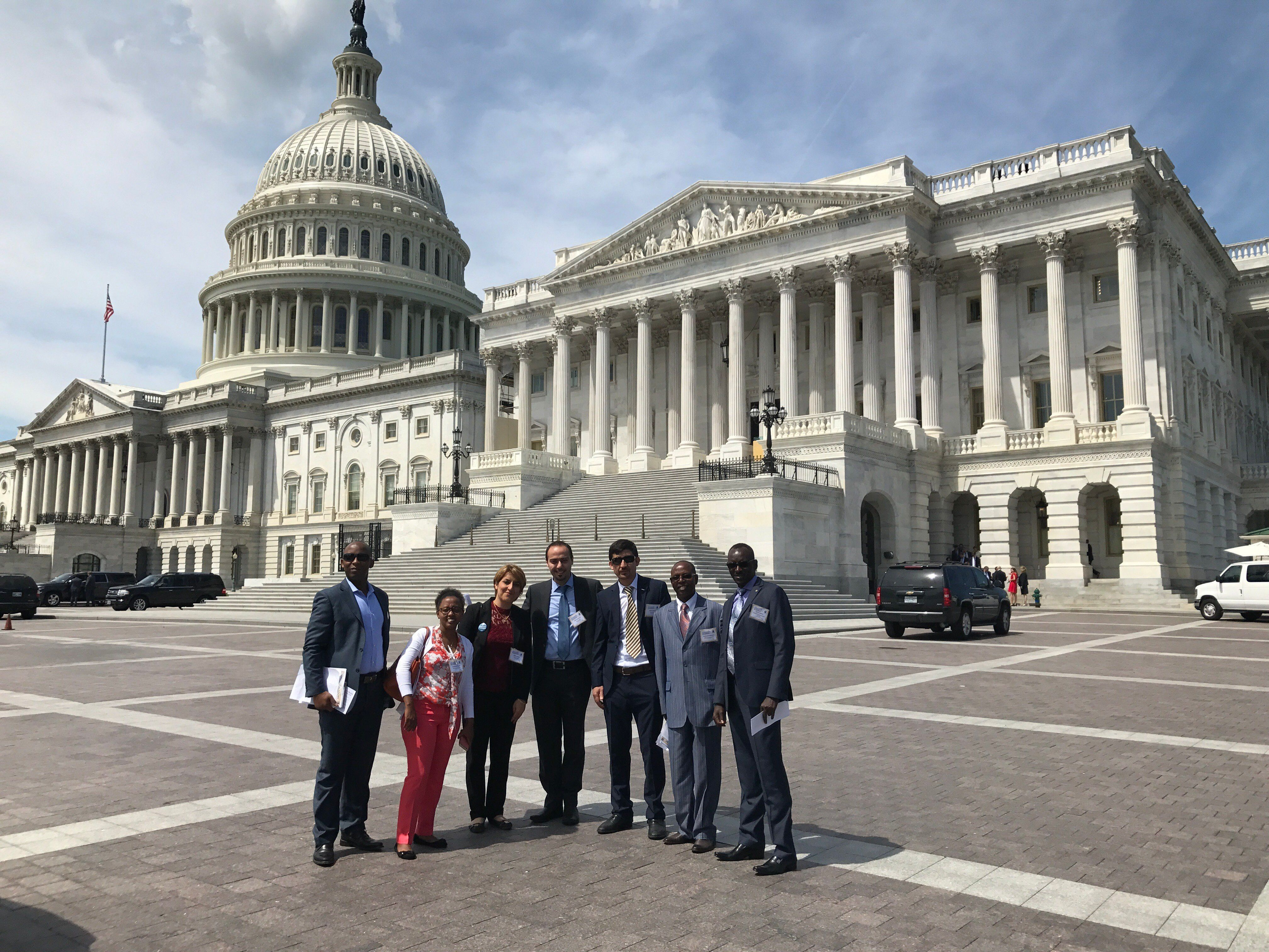 Former refugees living in Texas visit the Capitol as part of the 2017 Migrant and Refugee Leadership Academy through Lutheran