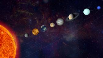 Solar System. Real textures for planets get from http://www.nasa.gov/