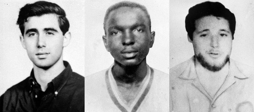 Left to right: Andrew Goodman, James Chaney, and Michael Schwerner