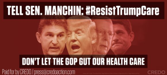 One of CREDO Action's billboards, targeting Sen. Joe Manchin (D-W.V.)