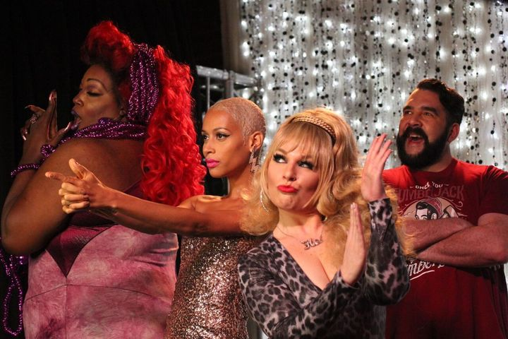 Lady Red Couture, Isis King, Wendy Ho and Jonny McGovern on Hey Qween