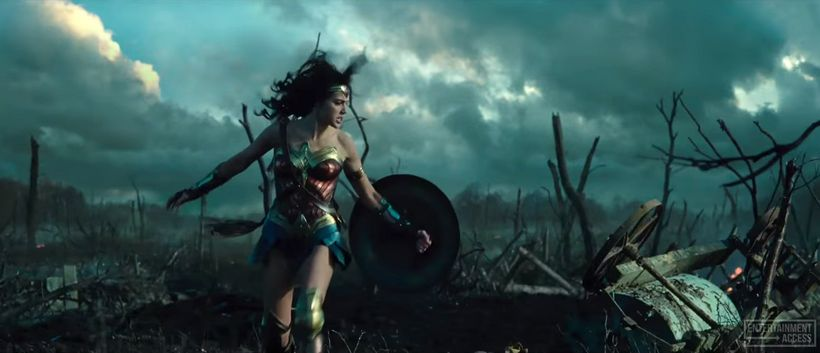 It is amid the onslaught of enemy artillery in No Man's Land that Princess Diana of Themyscira becomes  Wonder Woman.