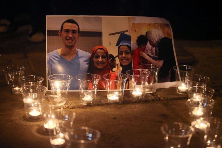 Three young Muslim students, Deah Shaddy Barakat, Yusor Mohammad, and Razan Mohammad Abu-Salha were killed at their home on F