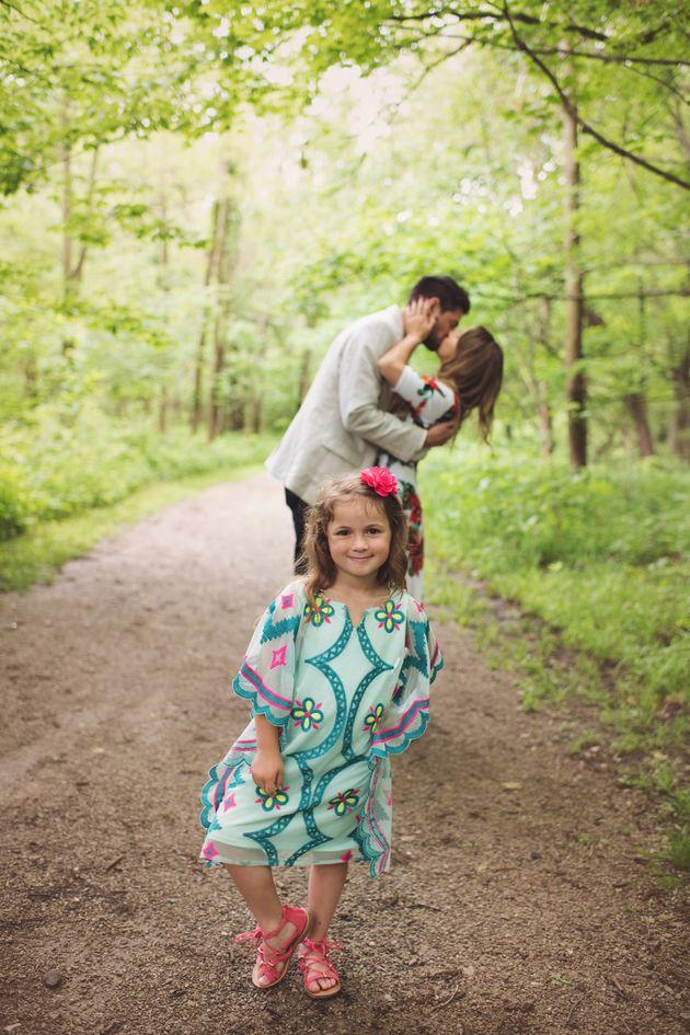 Grant se declaró dos veces ese día: a su novia y a la hija de cinco años de