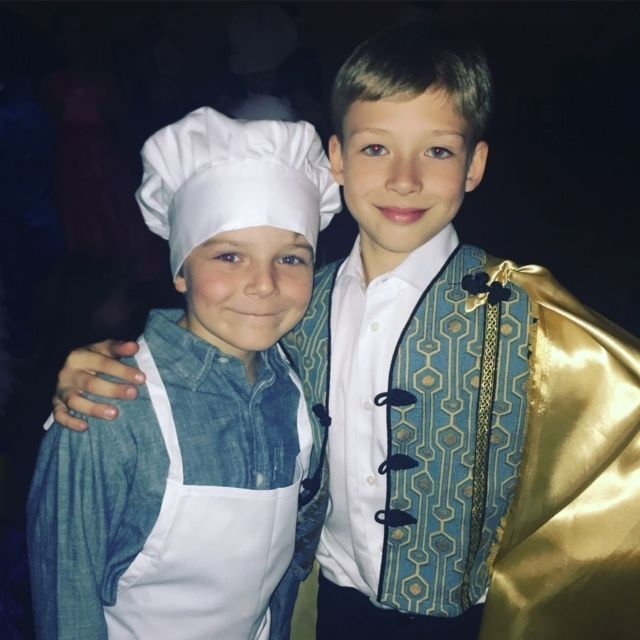 <p>Zakary Risinger and Kyd Kalin at their school production of Into the Woods Jr. </p>