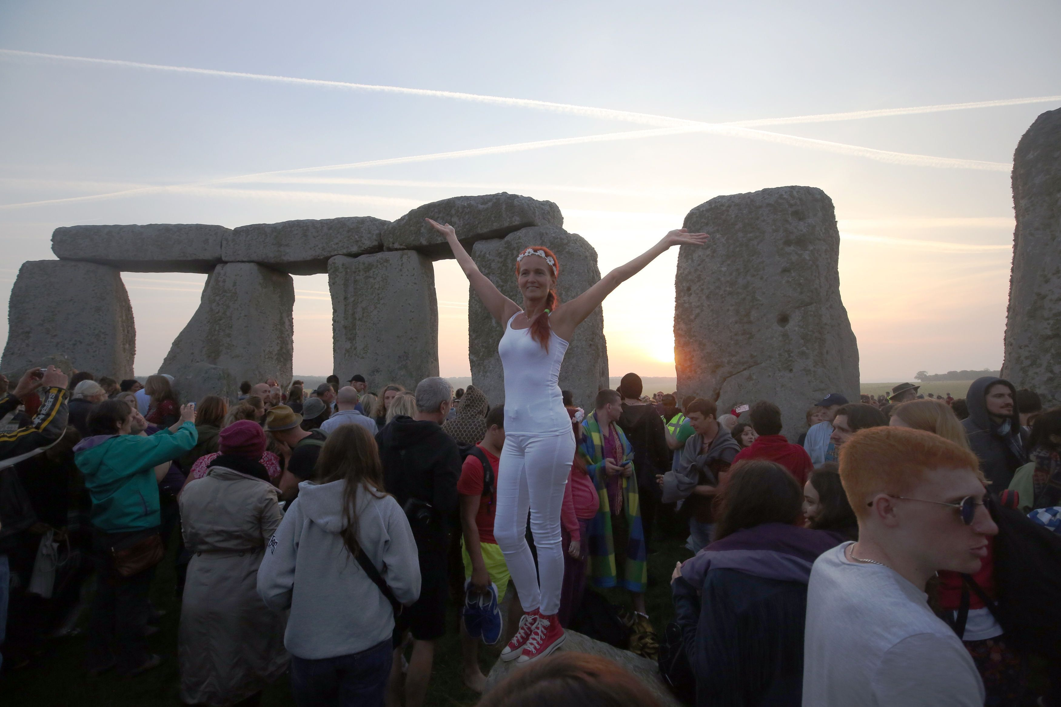 Armed Police On Patrol As Thousands Gather For Summer Solstice