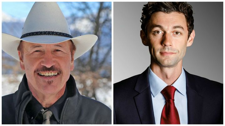 Former Democratic candidates for Congress Rob Quist [left] and Jon Ossoff [right].