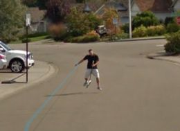 This is What Happens If You Chase The Google Street View Car