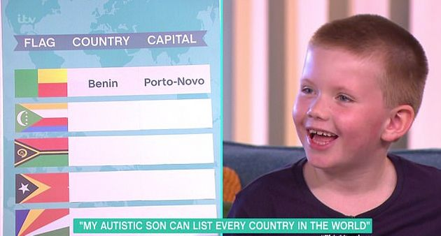 Six-Year-Old With Autism Wows With Impressive Geography