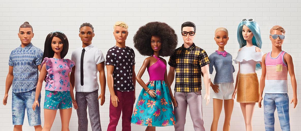 40 New Barbie And Ken Dolls Launched By Mattel With Different Body Types, Hairstyles And Skin
