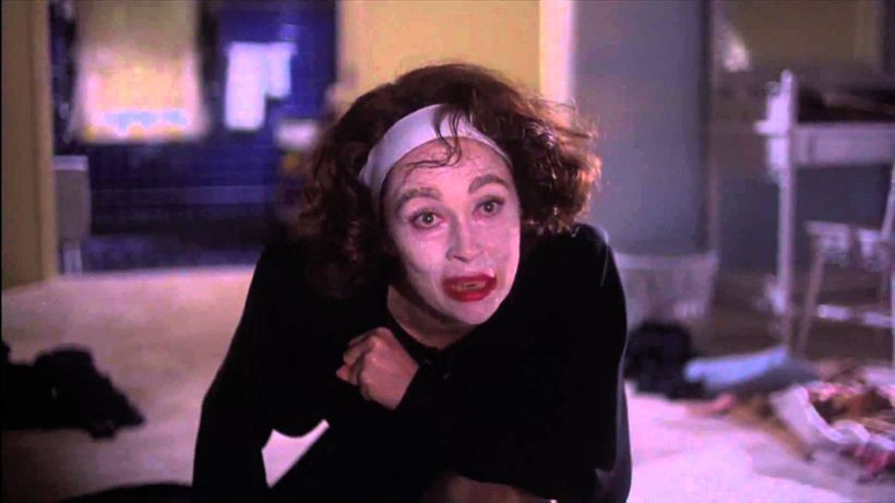 "Faye Dunaway portraying Joan Crawford as ""Mommy Dearest,"" an unbalanced alcoholic housewife circa 1981."