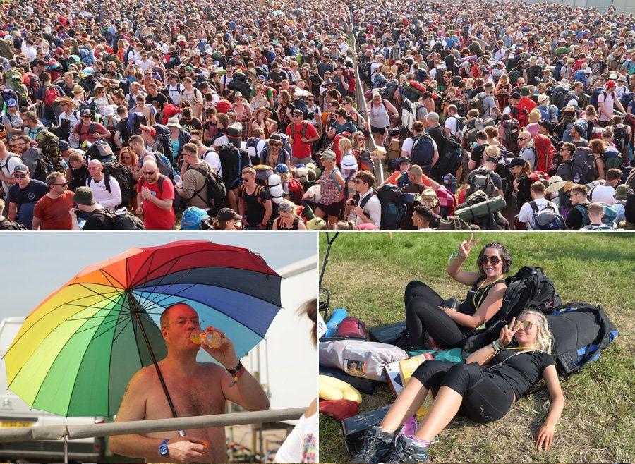 These Pics Of Glastonbury Goers Melting In Insanely Long Queues Will Make You So Glad You Missed Out On A