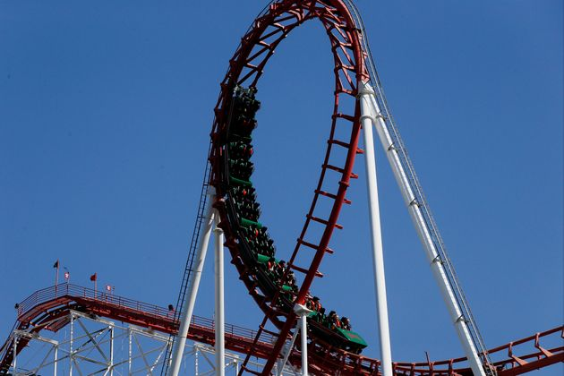 The proposed 'entertainment city' will include a Six Flags theme park (pictured is a rollercoaster at...