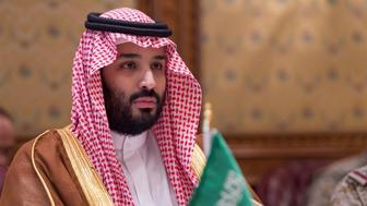RIYADH, SAUDI ARABIA - APRIL 19: (----EDITORIAL USE ONLY  MANDATORY CREDIT - 'BANDAR ALGALOUD / SAUDI KINGDOM COUNCIL / HANDOUT' - NO MARKETING NO ADVERTISING CAMPAIGNS - DISTRIBUTED AS A SERVICE TO CLIENTS----) Defense Minister of Saudi Arabia Mohammad Bin Salman Al Saud meets United States Secretary of Defense, James Mattis (not seen) in Riyadh, Saudi Arabia on April 19, 2017.   (Photo by Bandar Algaloud / Saudi Kingdom Council / Handout/Anadolu Agency/Getty Images)