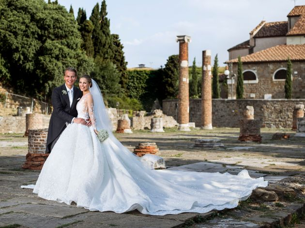 Victoria Swarovski S Wedding Dress Weighed 46kgs And Was Covered In