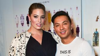 NEW YORK, NY - FEBRUARY 12: Ashley Graham and Prabal Gurung attends the Prabal Gurung show during New York Fashion Week at Skylight Clarkson Sq on February 12, 2017 in New York City. (Photo by Sean Zanni/Patrick McMullan via Getty Images)