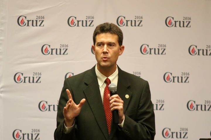 Alabama Secretary of State John Merrill at a 2015 rally for then-presidential candidate Ted Cruz.