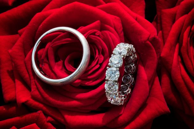 Wedding Rings of Victoria Swarovski and Werner