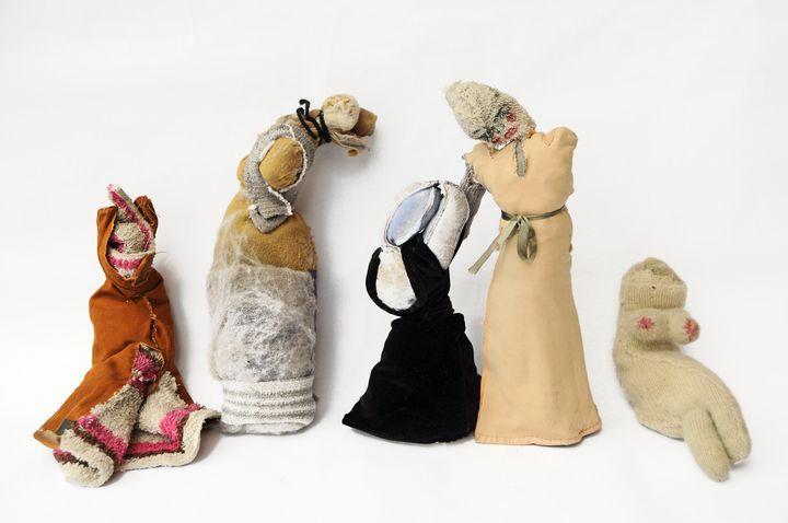 """Fanny Allié, """"Street Characters (5 female figures)"""""""