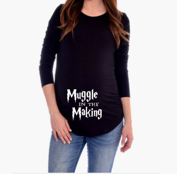 "$27, <a href=""https://www.etsy.com/listing/490444106/harry-potter-maternity-shirt-muggle-in"" target=""_blank"">CutieButtsBoutiq"