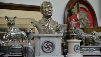 A bust of dictator Adolf Hitler, among other Nazi artifacts seized in the house of an art collector, is on display in Buenos Aires, in this undated handout released on June 20, 2017. Courtesy of the Argentine Ministry of Security/Handout via REUTERS THIS IMAGE WAS PROVIDED BY A THIRD PARTY.      TPX IMAGES OF THE DAY