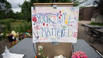 ST. PAUL, MN - JULY 14: A sign reading 'Your Life Mattered' hangs on a podium outside J.J. Hill Montessori School on July 14, 2016 in St. Paul, Minnesota. A meal was provided after a funeral service for Philando Castile at the Cathedral of St. Paul. Castile, who worked at Montessori as a cafeteria manager, was shot and killed on July 6th by police in Falcon Heights, Minnesota. (Photo by Stephen Maturen/Getty Images)