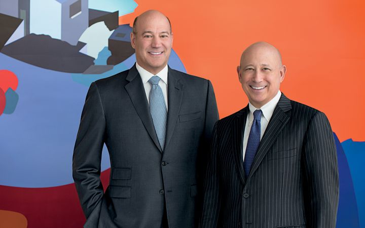 Gary Cohn, left  Lloyd Blankfein, right