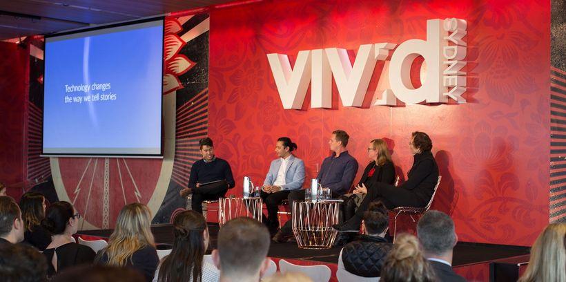 Tash Tan of Sydney's S1T2 moderates a panel on <em>Imagining an Interactive Brand</em> at Vivid Sydney.