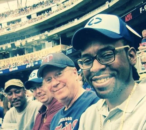 Philando Castile with some of his coworkers from J.J. Hill at a baseball game.