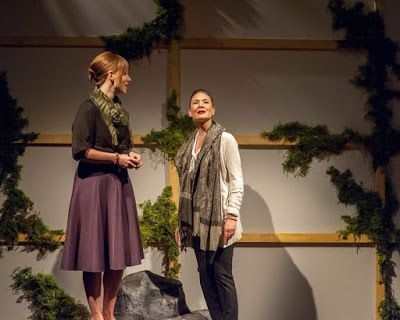 Lauren English (Lindsey) and Charisse Loriaux (Samantha) in a scene from <strong><em>You Mean To Do Me Harm</em></strong>
