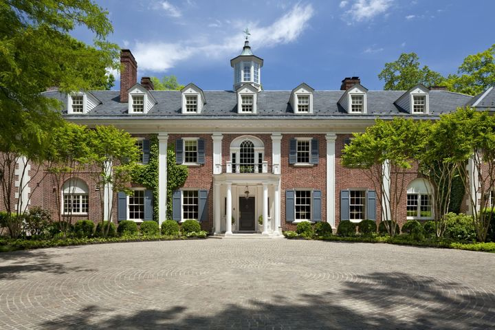 The former home of Jackie Kennedy, Merrywood estate sits on seven private acres on the Potomac River.