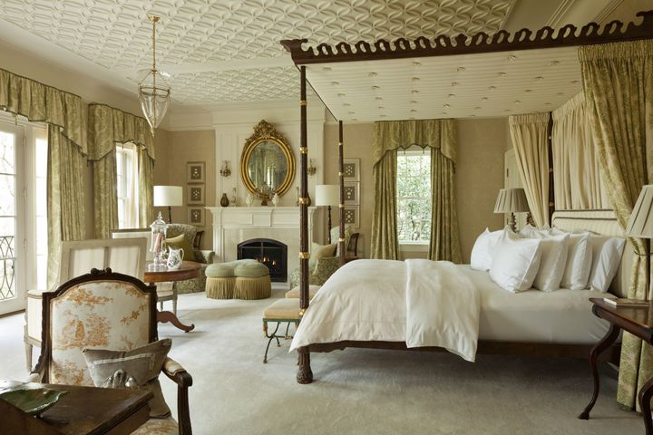 Nine ornate bedrooms leave plenty of space for guests.