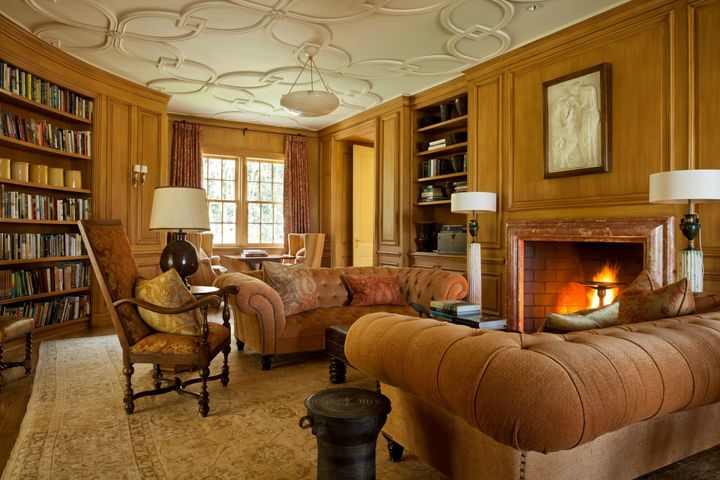 """A private study connects to the second-floor """"family quarters."""""""